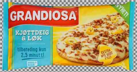 Bilde av Grandiosa Pizzaslice kjøttdeig og løk.