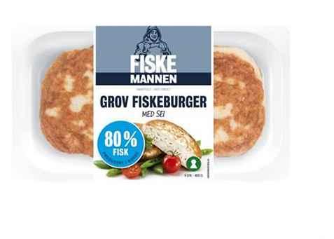 Bilde av Fiskemannen fiskeburger med 80 prosent sei.