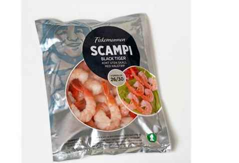 Bilde av Fiskemannen Scampi kokt uten skall m/haletipp.