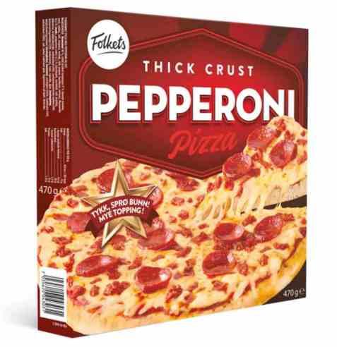 Bilde av Folkets pizza pepperoni.