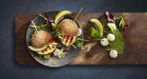 Bilde av Lofoten Perfekt grillfisk minislider med mozzarella.