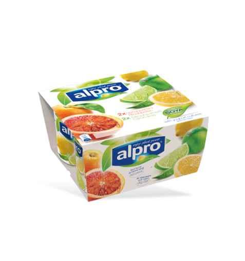 Bilde av Alpro soyayoghurt Blodappelsin & Sitron med lime.