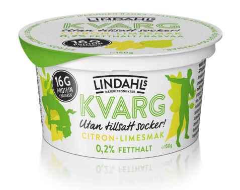 Bilde av Lindahls kvarg med sitron og limesmak.