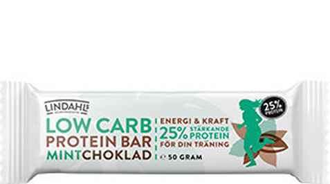 Bilde av Lindahls low carb proteinbar mintchoklad.