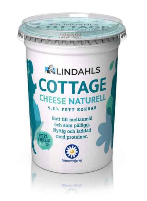 Bilde av Lindahls cottage cheese naturell.