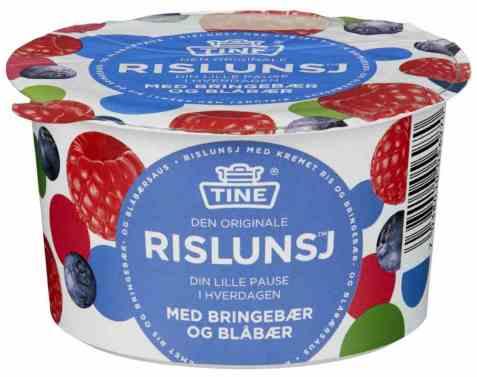 Bilde av Tine Rislunsj med bringebær og blåbær.