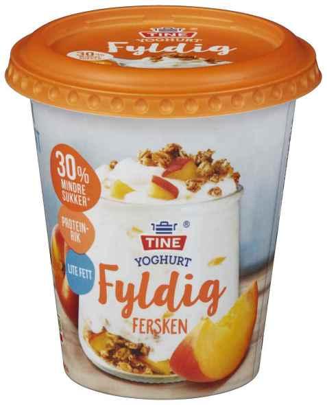 Bilde av TINE Yoghurt fyldig fersken.