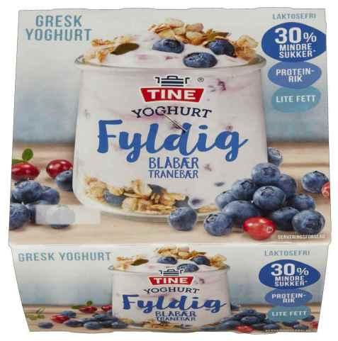 Bilde av TINE Yoghurt fyldig blåbær og tranebær.