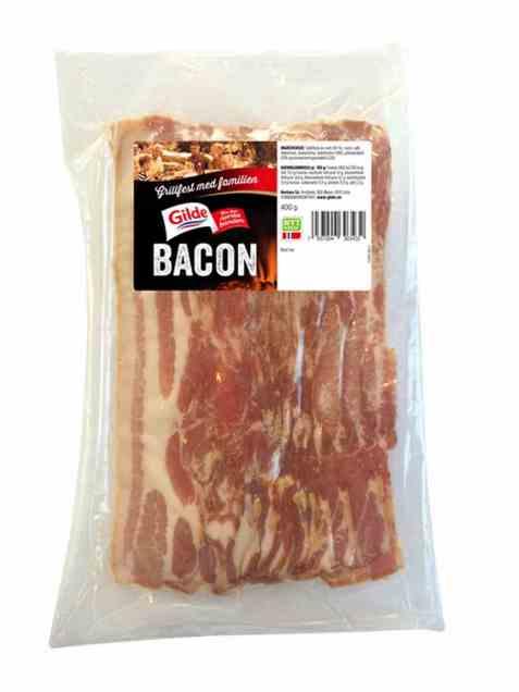 Bilde av Gilde bacon uten svor skivet.