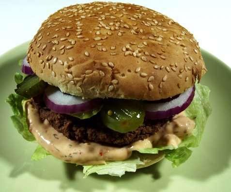 Bilde av Vegetarburger, hjemmelagd.
