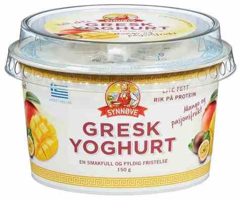 Bilde av Synnøve gresk yoghurt Mango og pasjonsfrukt.
