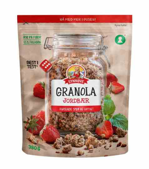 Bilde av Synnøve granola jordbær.