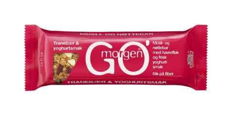 Bilde av Tine Gomorgen Müsli- og nøttebar med tranebær og yoghurtsmak.