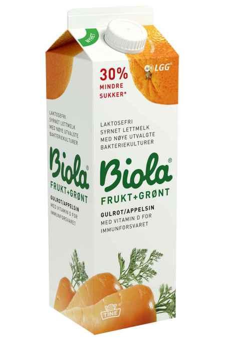 Bilde av Tine Biola Frukt+Grønt Gulrot/Appelsin.