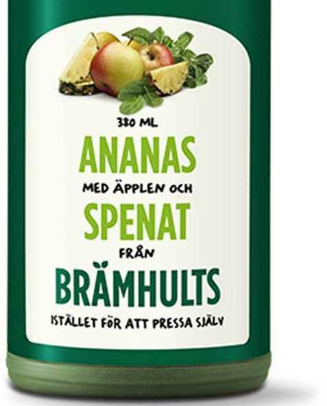 Bilde av Bramhult ananas, epler og spinat.
