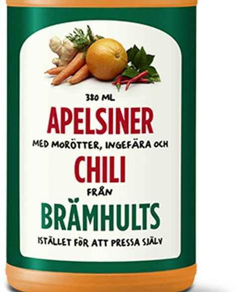 Bilde av Bramhult appelsiner, gulrot, ingefær og chili.