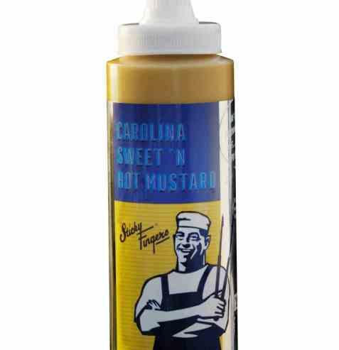 Bilde av Sticky Fingers carolina hot & sweet mustard.