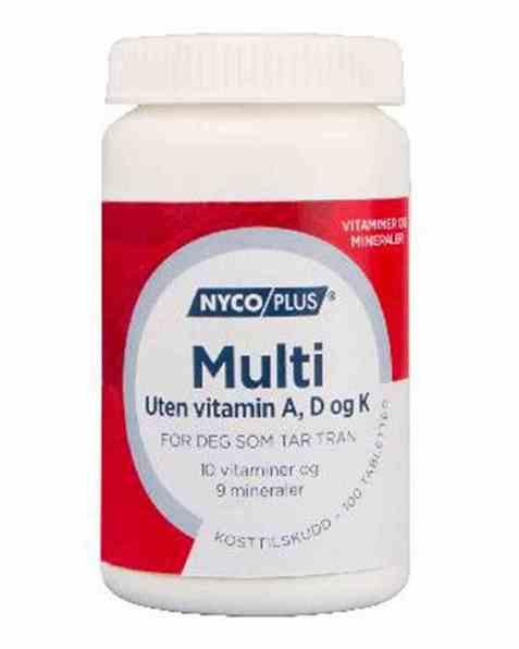 Bilde av Nycomed Nycoplus Multi uten A-, D- og K-vitamin 100stk.