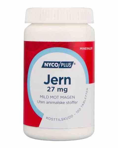 Bilde av Nycomed Nycoplus Jern 27mg tabletter 100stk.