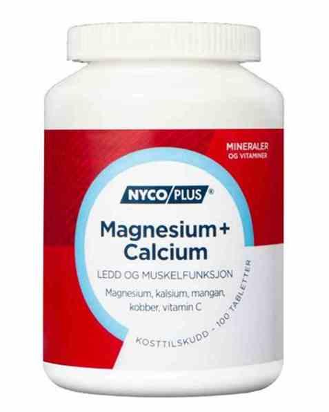 Bilde av Nycomed Nycoplus Magnesium + calcium tabletter 100stk.