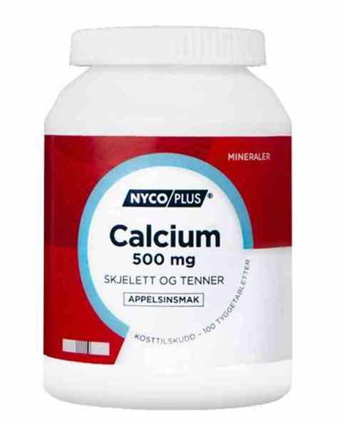 Bilde av Nycomed Nycoplus Calcium 500mg tyggetabletter 100stk.
