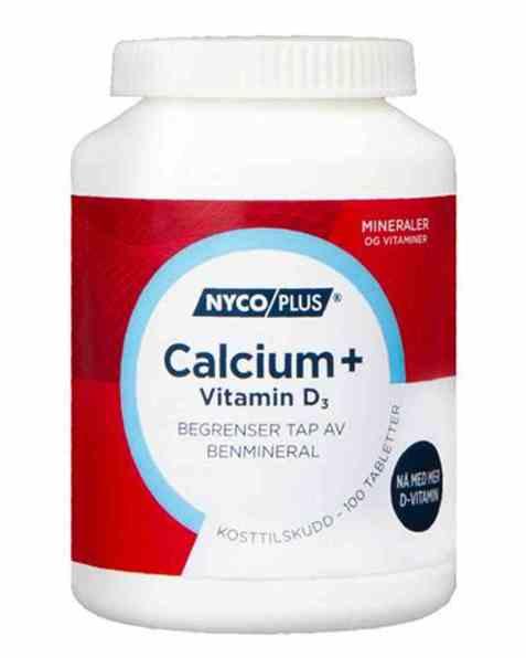 Bilde av Nycomed Nycoplus Calcium med D3-vitamin tabletter 100stk.