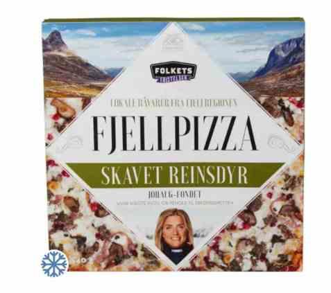 Bilde av Folkets fjellpizza med skavet reinsdyr.