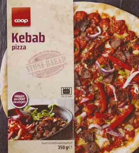 Bilde av Coop kebab pizza.