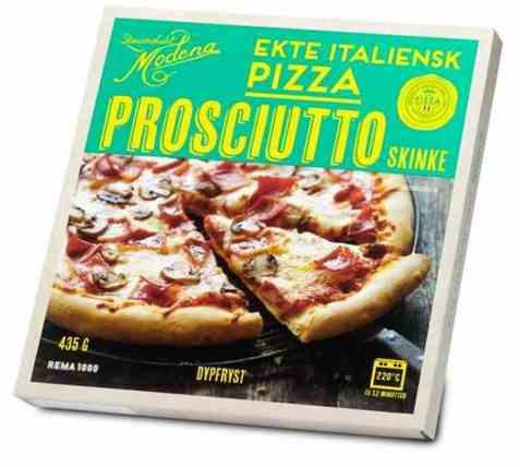 Bilde av Rema 1000 Pizza prosciutto.