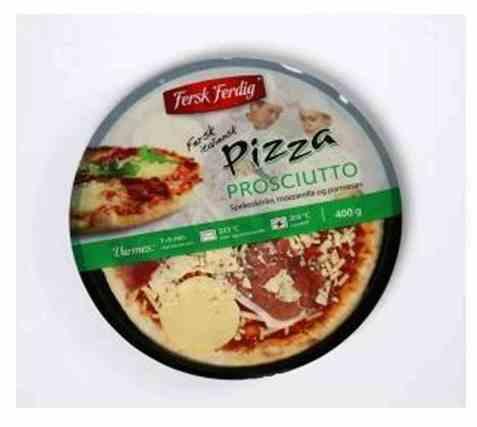 Bilde av Fersk og ferdig pizza prosciutto.