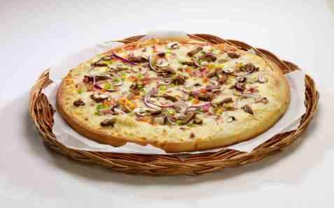 Bilde av Isbilen biff pizza.