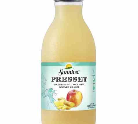 Bilde av Tine Sunniva presset eple, ingefær og lime.