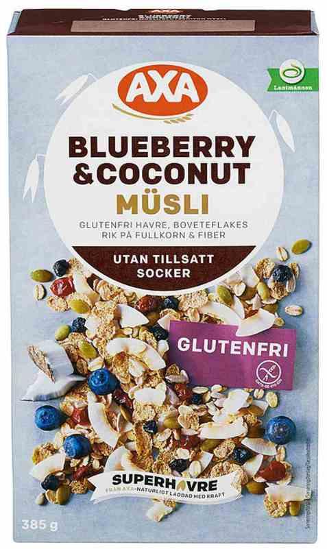 Bilde av Axa blueberry & coconut glutenfri musli.