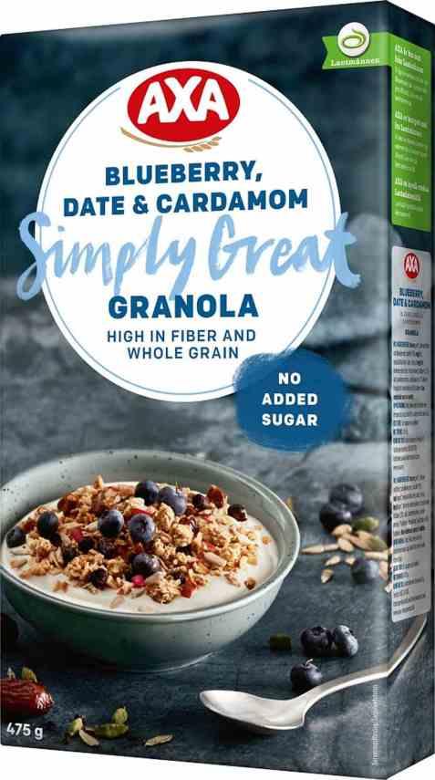 Bilde av Axa granola blueberry date & cardamom.