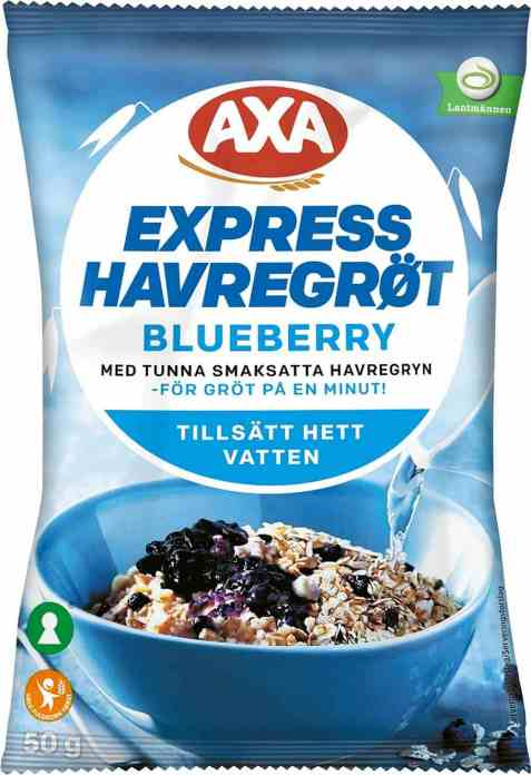 Bilde av Axa Havregrøt Blåbær.