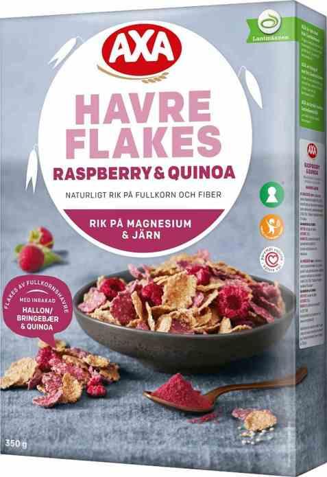 Bilde av Axa havreflakes raspberry og quinoa.