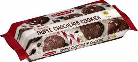 Bilde av Semper triple sjokolade cookies.