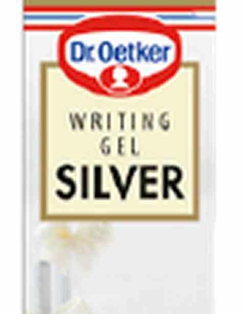 Bilde av DrOetker Writing Gel Silver.