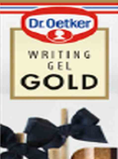 Bilde av DrOetker Writing Gel Gold.