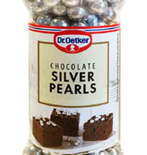 Bilde av DrOetker Chocolate Silver Pearls.