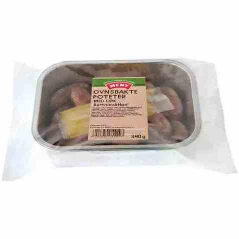 Bilde av Meny ovnsbakte poteter med løk.