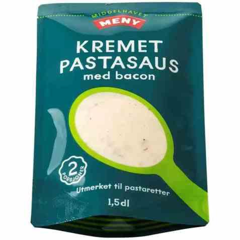 Bilde av Meny pastasaus kremet med bacon.