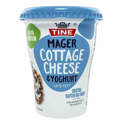 Bilde av Tine Mager Cottage Cheese og yoghurt.