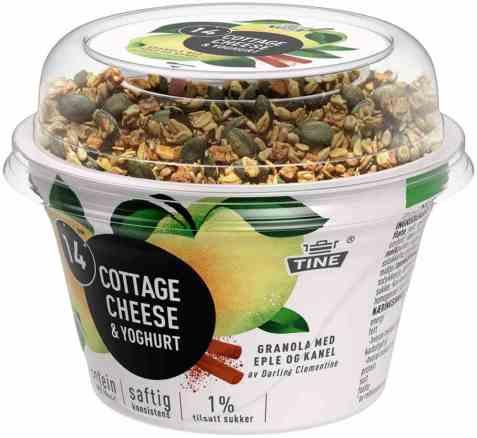 Bilde av Tine 14 Cottage Cheese og yoghurt eple/kanel.