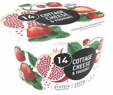 Bilde av Tine 14 Cottage Cheese og yoghurt jordbær/granateple.