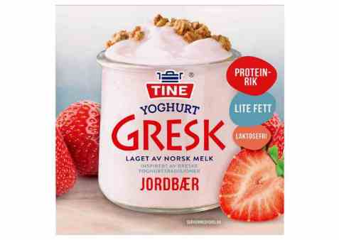 Bilde av TINE Yoghurt Gresk Jordbær.
