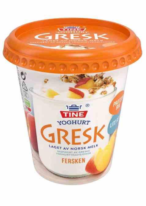 Bilde av TINE Yoghurt Gresk fersken.