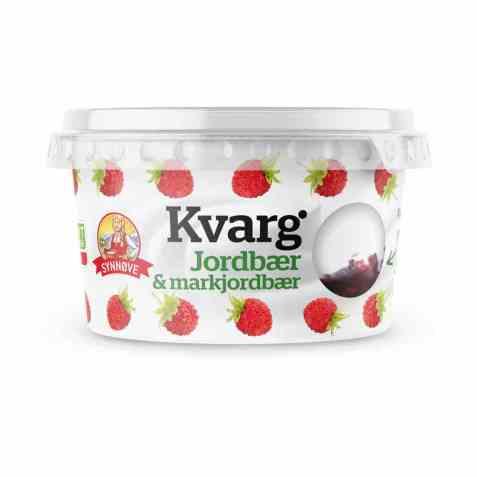 Bilde av Synnøve kvarg Jordbær & Markjordbær.
