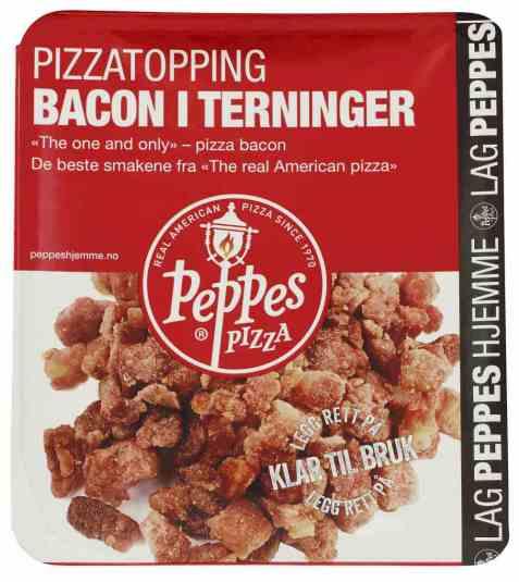 Bilde av Peppes Bacon i terninger.