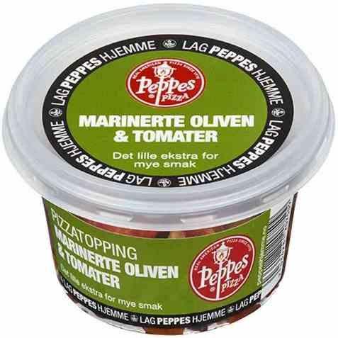 Bilde av Peppes marinerte oliven & tomater.